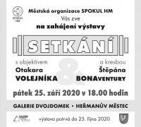 Zahájení výstavy Setkání s objektivem Otakara Volejníka a kresbou Štěpána Bonaventury